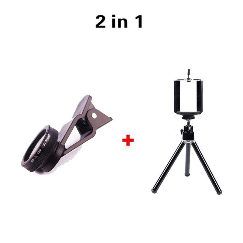New Type Clip Mobile phone ND filter Camera Lens Kit 2in1 Lens 0.67x Wide Angle Marco Lens Iphone Smartphone