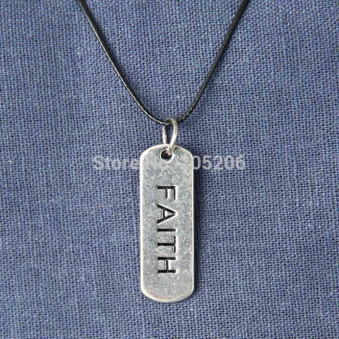New Fashion Faith letter Flaoting Charms 1PCS Men's Necklaces Jewelry dangles necklace pendants(China (Mainland))
