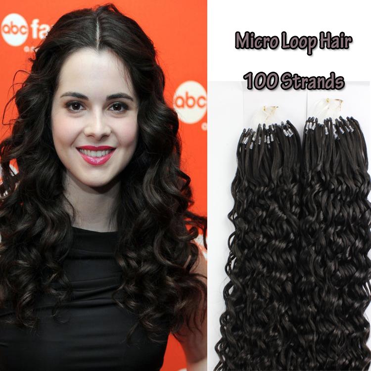 Brazilian Virgin Remy Hair Micro Loop Keratin Ring Top Quality Micro Human Curly Hair Bead Human Hair Extensions 1g<br><br>Aliexpress