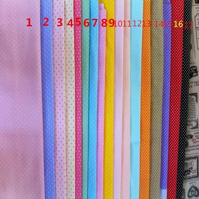 "10 meters Wholesale 100% Cotton Fabric, Mini Polka Dots Printed Patchwork Quilting Bedding Tissue 160cm 63"" Width XW051024007(China (Mainland))"