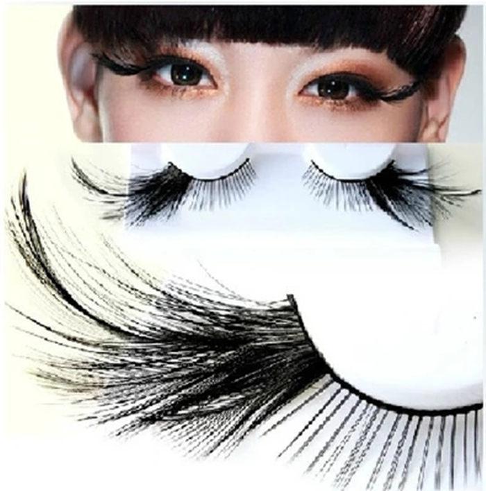 2015 New Arrival Black Color Exaggerated False Eyelashes Party Eyelashes Performing Eyelashes(China (Mainland))