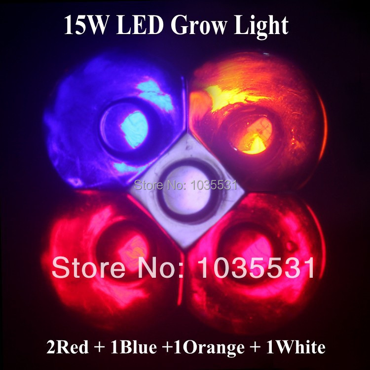 5pcs High Power 15w GU10 LED Grow lighting LED Spot light for flower plant lamp and hydroponic system Greenhouse Grow box(China (Mainland))