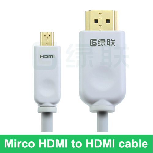 2M(6.5ft) Deluxe Mirco HDMI to HDMI cable for phone XT928 /XT910 /tablet PC A500, Faddish,Premium Quality, Free Shipping!