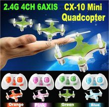 Wholesale Cheerson CX-10 CX10 2.4G 4CH 6Axis Remote Control RC Toys Quadcopter Mini Helicopter Radio Control Aircraft RTF Drone(China (Mainland))
