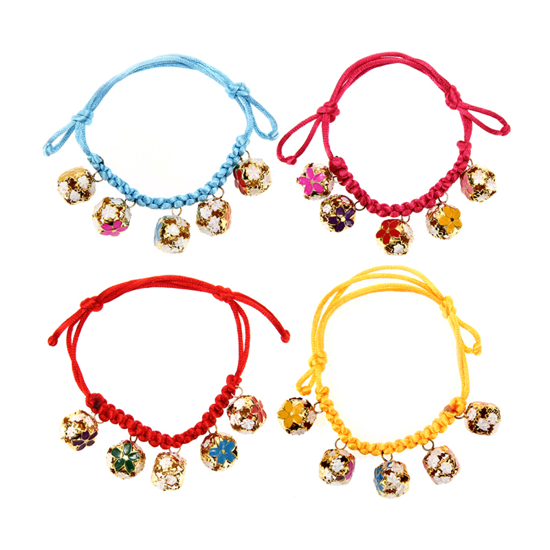 Dog toy New Adjustable Length 18-32CM Dogs Cats Collar with 5 Bells Pet Accessory Free Shipping MTY3(China (Mainland))