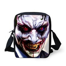2016 New Shoulder-bag Messenger Bag for Men Small Boys Black Harley Quinn and Joker Print Messenger Small Crossbody Handbags(China (Mainland))