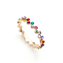 Real italina rigant Crystal From Austrian Vintage 18K gold Plated Rings for Women Anti Allergies  #RG95241(China (Mainland))