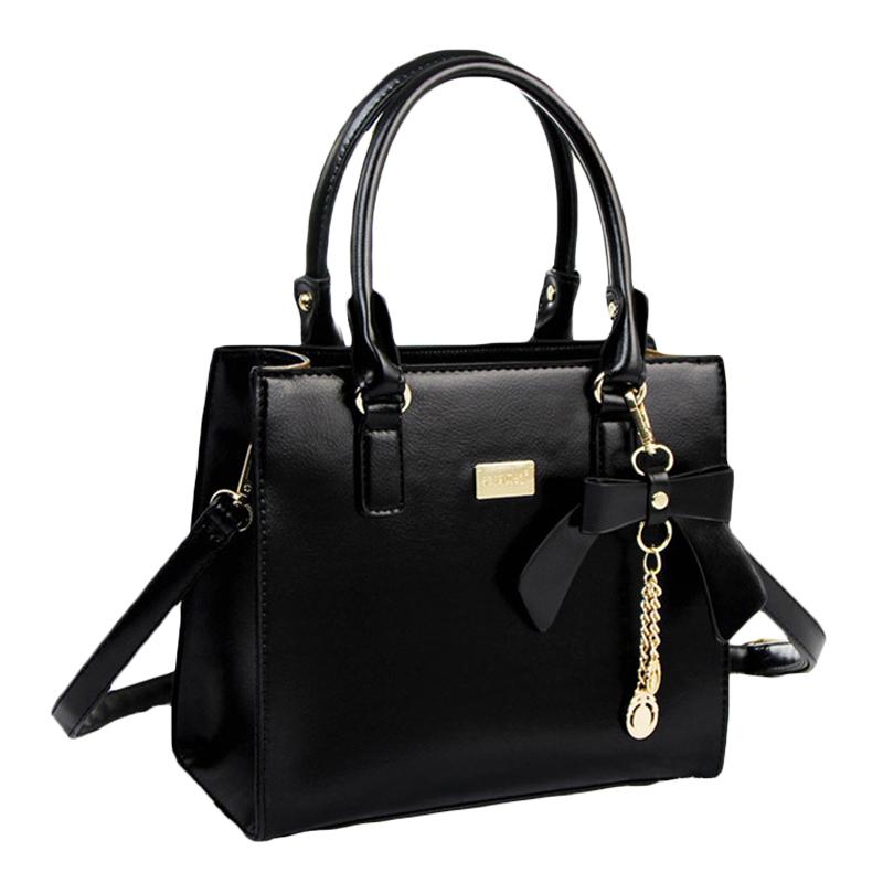 Women handbag 2015 Fashion black bow bags for women with top handle high quality sac femme bolsa feminina shoulder bag female(China (Mainland))