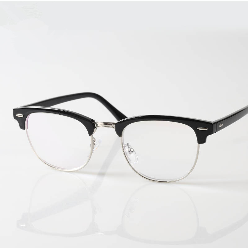 Half Rimmed Eyewear Large Frame Women and Men Classic ...