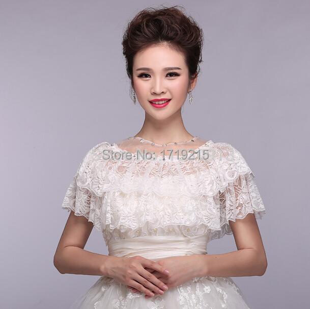 Lace Wedding Dress Accessories : Korean bride ivory wedding dress accessories lace vest