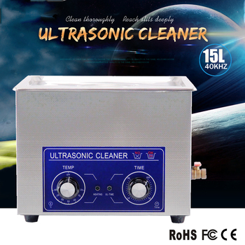 15L professional ultrasonic cleaning equipment  for factory using like mold ,fuel injectors and parts,with heater and timer
