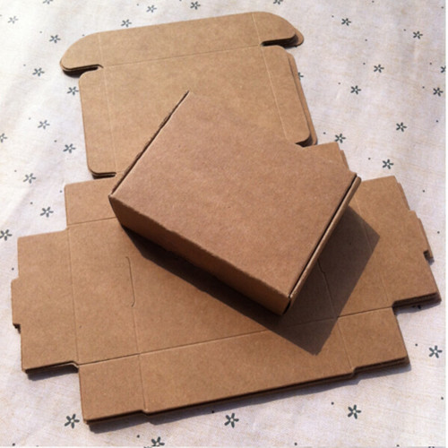 3*3*2cm Cardboard Aircraft Boxes 50Pcs/ Lot Mini Candy, Smart Gift, Event Party Decorative Button Kraft Paper Packing Boxes(China (Mainland))
