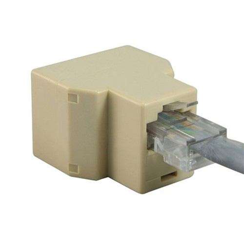 USA Stock! RJ45 CAT 5 6 LAN Ethernet Splitter Connector Adapter PC(China (Mainland))