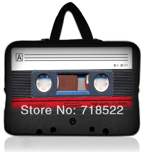 "10"" Cassette Tape Laptop Bag Carry Case Cover For Acr Iconia A210 10.1"" Android Tablet A210/ Micro Surface RT Tablet, 50pcs(China (Mainland))"