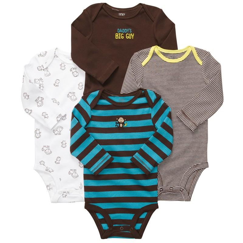 Newborn Baby Romper baby clothing carters baby girl boy conjuntos long sleeve MOQ 1PCS free shipping(China (Mainland))