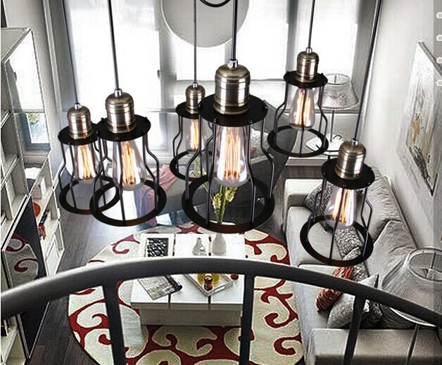 American country industry contracted wind restoring ancient ways counter Bar pendant lights pendant lamps XXSP7 2015 new<br><br>Aliexpress