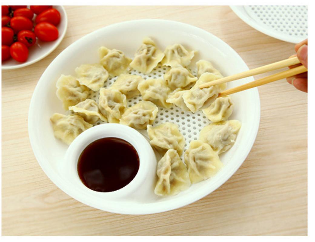 2016 Popular Plastic Fruit Bowl Dumplings Dish Dual-layer Disc Tool Free Shipping 5ZCF077(China (Mainland))
