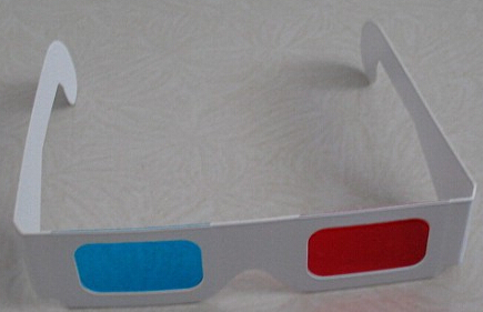 Paper 3D Glasses 3d virtual video View Anaglyph Red Cyan Red/Blue 3d Glass 3D movie glasses Anaglyph Movie DVD customized(China (Mainland))