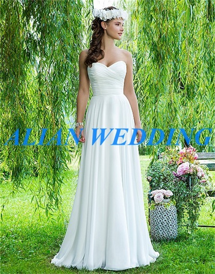 Fast Shipping Boho Wedding Dress For Beach 2015 Sweetheart