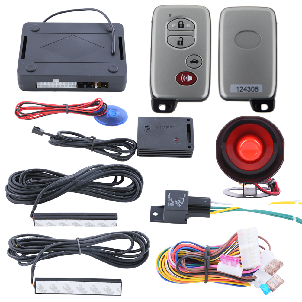 PKE car alarm system passive keyless entry kit, remote arm disarm the cars, central lock automation, power window output<br><br>Aliexpress