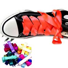 Flat Silk Ribbon Shoelaces Shoe Laces f. Sneaker Sport Shoes Fantastic 120cm(China (Mainland))