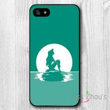 For iphone 4/4s 5/5s 5c SE 6/6s plus ipod touch 4/5/6 back skins mobile cellphone cases cover The Little Mermaid