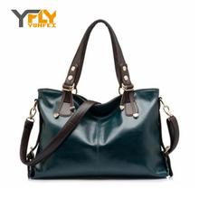 Y-FLY Hot New 2016 Fashion Brand Women Leather Handbags Burnished Leather Shoulder Bags Women Messenger Bags Tote Bolsas YF0012