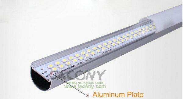 T8 LED tube light+T5 +9W+ 0.6 Meters +SMD 3528 LED +85V-265V+5cs/lot