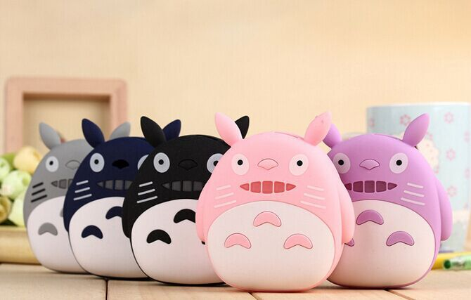 Universal 5 color(pink,blue,gray,black,purple) Totoro portable mobile power bank charger external battery Pack capacity 8800mAh(China (Mainland))