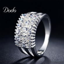 925 sterling silver rings for women fine crown Ring Jewelry Bijoux zirconia inlay Accessories Engagement Wedding Bague  DR019