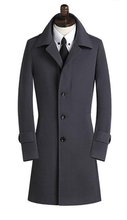 2016 new arrival Winter wool coat men's high quality slim overcoat super large single breasted cashmere plus SizeS - 7XL 8XL 9XL(China (Mainland))