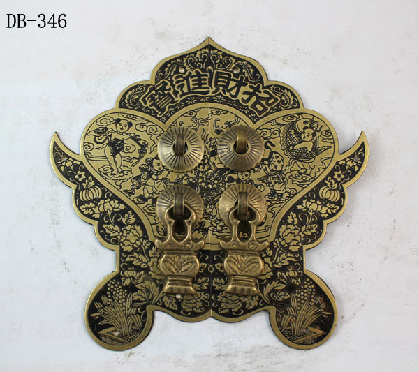 Chinese antique bronze accessories Copper Door Handle Zhaocaijinbao DB-346 14CM