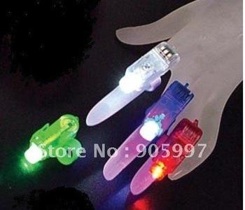 Free,Wholesale-Phantom fingers lasers ,finger light, laser finger,LED finger light (4PCS/set)