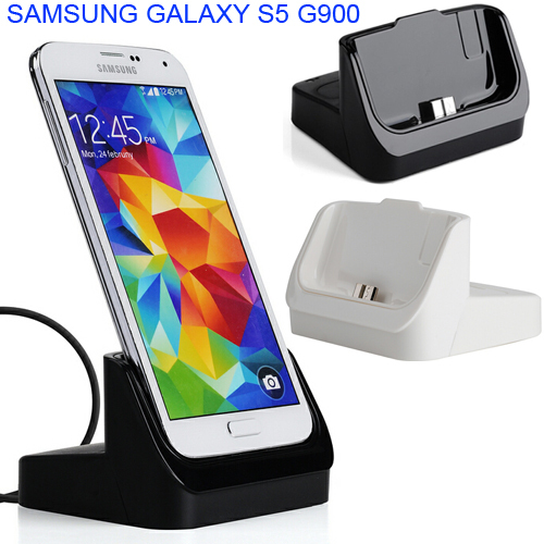 Safety Sync Date 5V/2A Battery desktop dock fast charger holder for Samsung Galaxy S5 G900 I9600 with USB cable line(China (Mainland))