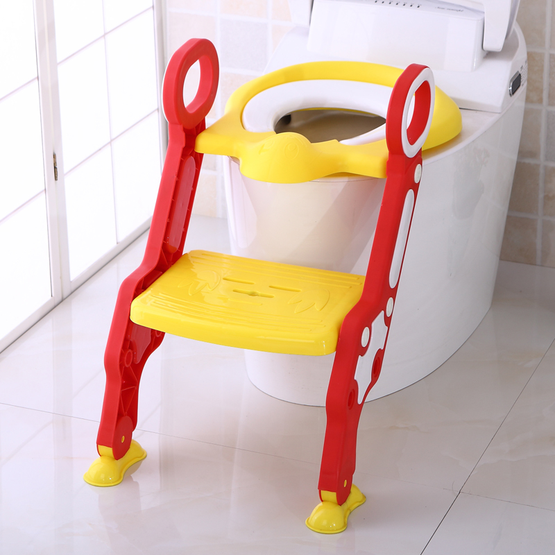 2016 Baby New Design Bear Folding Ladder Toilet Baby Potty Training Chair Plastic Toilet Stand Seat(China (Mainland))