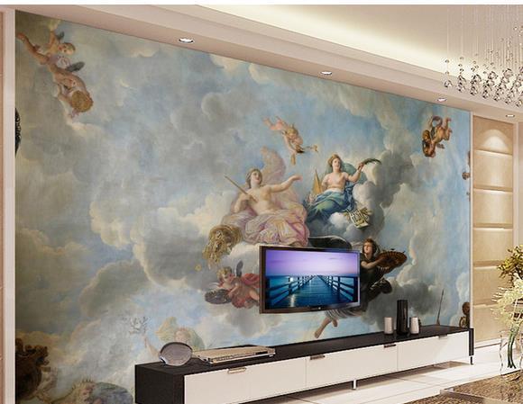 Custom photo wallpaper 3D stereoscopic Greek mythology Hercules TV background 3d mural wallpaper 20155573(China (Mainland))