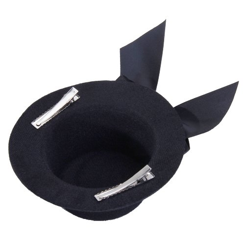 Ladies Mini Top Hat Fascinator Burlesque Millinery w/ Bowknot - Black, IN STOCK, FREE SHIPPING(China (Mainland))
