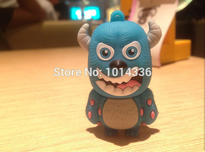 plastic usb flash drive memory card/stick/thumb/car Monster University hat Gift 1/2/4/8/16/32GB creative Pendrive S12(China (Mainland))