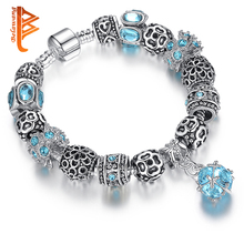 Authentic 925 Spacer Silver Coronary heart Appeal Bracelet Match Authentic Bracelet for Girls DIY Crystal&Glass Beads Genuine Jewellery PS3601