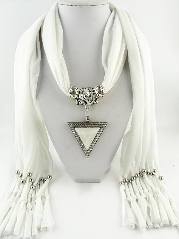 40 Newest Wholesale Triangle Pendant Scarf DIY Jewelry Costume Fashion Pendant Scarves Free Shipping(China (Mainland))