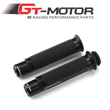 GT Motor - THE HOT BARRACUDA 7/8'' Motorcycle Handle CAPS / Handlebar Grips CNC 22MM Universal Street & Racing Moto Racing Grips