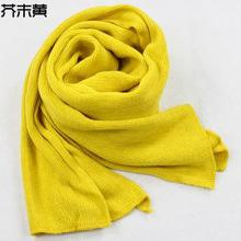 Winter Scarf Autumn and winter Long thickening chaddar pure color knit collar wool scarf for men women Hat And Set For Women(China (Mainland))