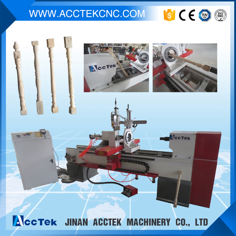 promotional high stability automatic wood lathe machine(China (Mainland))