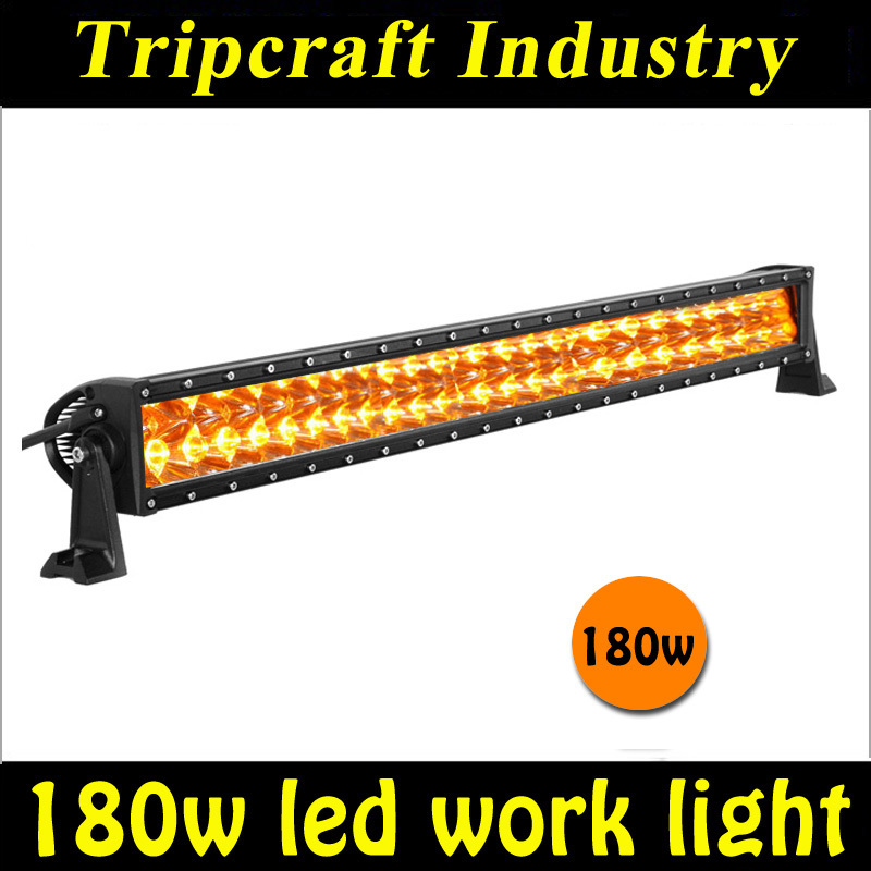 Фотография Promotion sale 12v 180W AMBER LED LIGHT BAR Car Auto Mining Worklight Driving Fog Lamp 15300lumen
