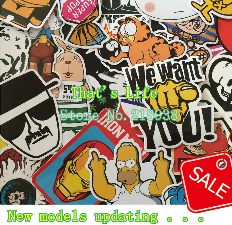Home decor jdm car sticker on car styling laptop sticker decal motorcycle skateboard doodle stickers for car accessories(China (Mainland))