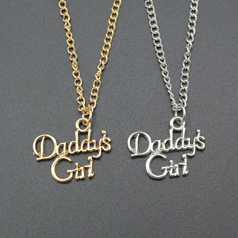 Fashion Women Jewelry Gold Daddy's Girl Pendant Choker Necklace Gift Kids Birthday Gift EF19