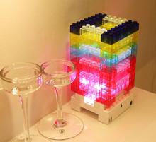 New DIY LED Night Light Touch Sensor Building Blocks Toy Home Gadget Decorative Bedside Desk LED Lamp USB Bricks Toy for Child(China (Mainland))
