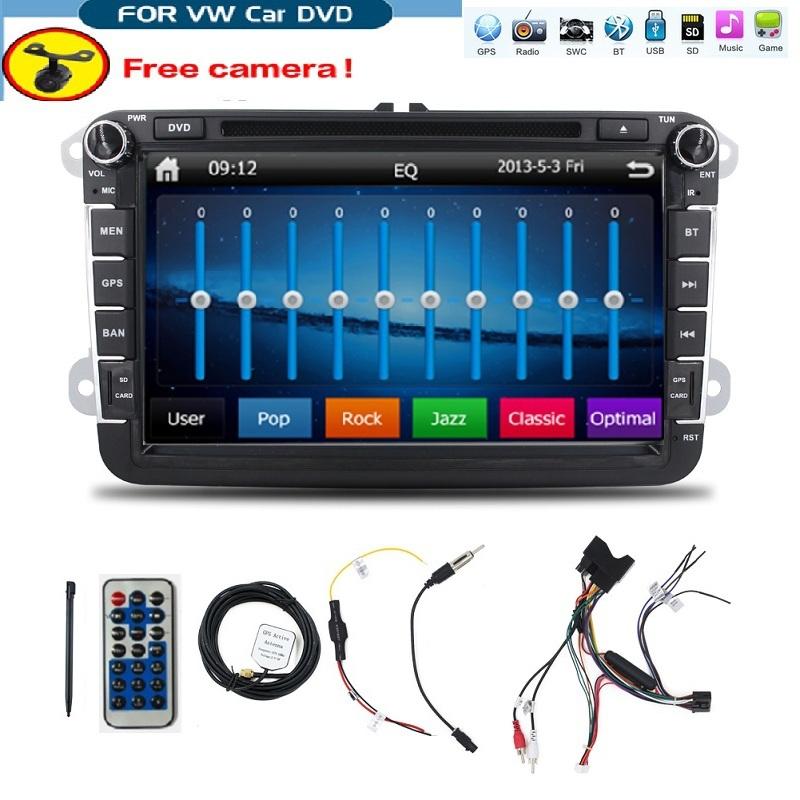 8 inch 2 din Multimedial VW Car DVD GPS Navigation audio camera TV player for GOLF 6 new polo New Bora JETTA B6 PASSAT SKODA Map(China (Mainland))