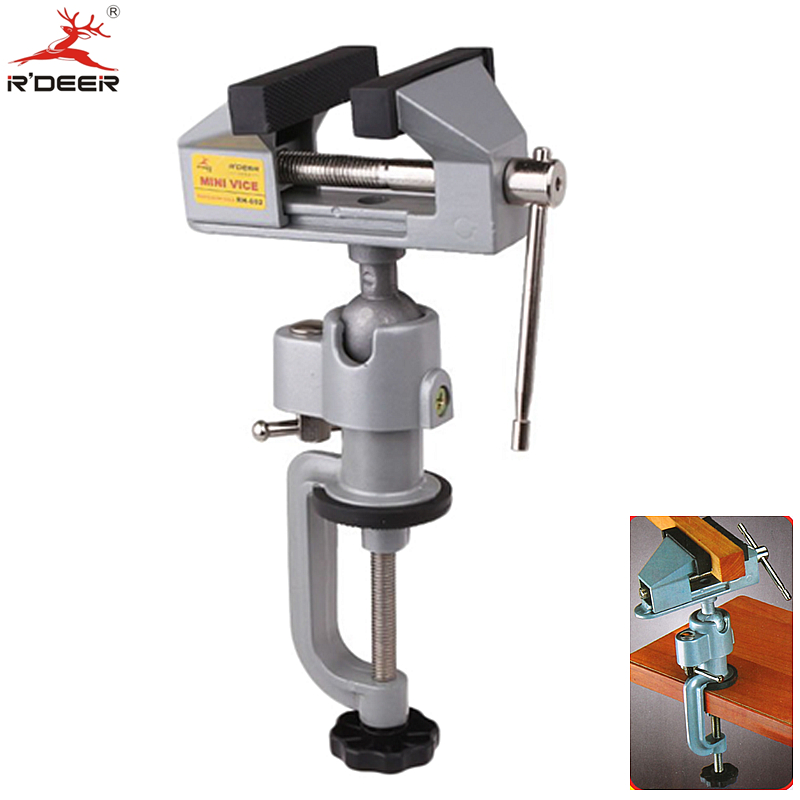 Bench Vise Universal Adjustable Aluminium Alloy Table Vice Clamp Tabletop Vise Tilt Rotates 360 Degree Bench Tools<br><br>Aliexpress