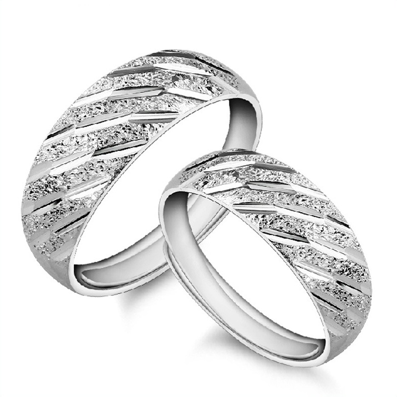 2pcs/set ring silver 925 rings fashion for women Meteor shower Lovers rings couple rings jewelry(China (Mainland))